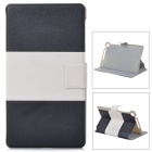 Y7-2-29BW Protective PU Leather 2-Fold Case for Google Nexus 7 II - Black + White