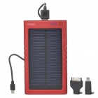 MOPO MY-3000 Universal-Solar Energy Powered wiederaufladbare 3000mAh Bank - rot + schwarz