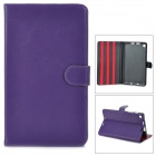 Y7-2-22Z Ultrathin Protective PU Leather Case w/ Sleep Function for Google Nexus 7 II - Purple
