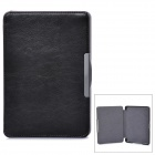 Protective PU Leather Case for KOBO GLO E-Book - Black