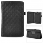 Checked Style Protective PU Leather Case for Asus ME173X - Black