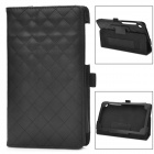 Squares Grid Pattern Stylish Protective PU Leather Pattern Case for Google Nexus 7 II - Black