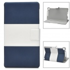 Y7-2-32LW Protective PU Leather Case w/ Sleep Function for Google Nexus 7 II - Dark Blue + White