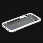 Glow-in-the-Dark Protective PC + TPU Back Case for iPhone 5c - White