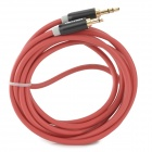 3.5mm Male to Male Audio Cable - Red (200 cm)