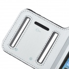Sports Neoprene + Stretch Cotton  Armband Case for Iphone 5C - Silver