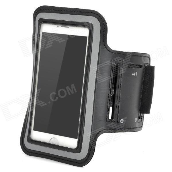 Sports Neoprene + Stretch Cotton  Armband Case for Iphone 5C - Black