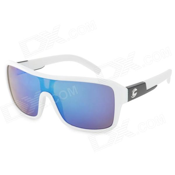 Oreka 2084 Outdoor Sports Blue REVO PC Lens UV400 Protection Sunglassses - Black + White