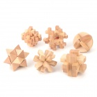 6-in-1-Training Intelligenz Wooden Interlock Puzzle Spielzeug