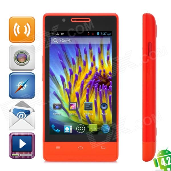 "CUBOT C9 + Dual-Core Android 4.2 GSM Phone w / 4,0 ""-Bildschirm, Wi-Fi, GPS und Quad-Band - Red"