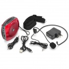 SENICC K510 Portable Multifunction Amplifier Speaker w/ TF / FM Radio - Red + Deep Grey