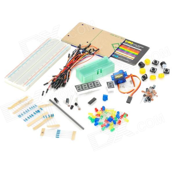 Robotale DIY Experiment Electronic Components Kit (Works with Official Arduino Boards)