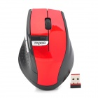 2.4GHz Wireless Optical 1500dpi Mouse - Black + Red (2 x AA)