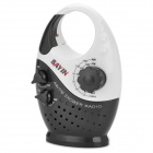 Sayin SY-908 AM / FM Shower Radio - Black + White (3 x AAA)