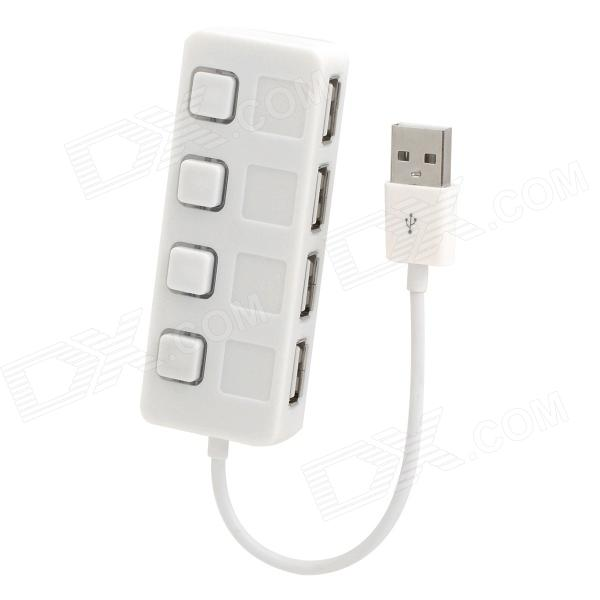 20754 USB 2.0 480Mbps 4 Port HUB w/ LED Light - White
