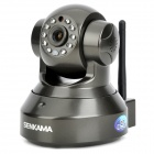 SENKAMA PNP 720p HD Wireless IP Network Camera w / Wi-Fi / 10-IR LED / TF - Esche Schwarz