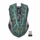 RF-6165 2.4GHz 3200dpi Wireless Game Play Mouse Set - Black + Green (2 x AAA)