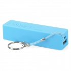 Rechargeable 1A Output 1 x 18650 Portable Mobile Power Bank Enclosure - Blue + White