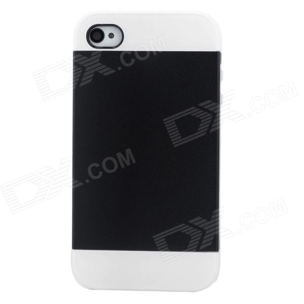 NX CASE Detachable Protective Back Case for Iphone 4 / 4S - Black + White detectable 8x telescope w tripod back case for iphone 4 4s white silver black