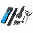 BOSU BY-2005 Safe Handheld Rechargeable Electronic Hair Clipper/Trimmer Set - Blue + Black
