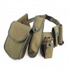 War-2 Multi-functional Seven-piece Set Service Belt - Army Green