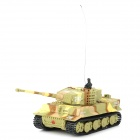 Mini Multi-Functional 4-Channel R/C Tank Toy w/ LED / Sound / Remote Controller - Multicolored