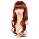 33T900 Fashionable Curly Kanekalon Fiber Long Wig - Brownish Red