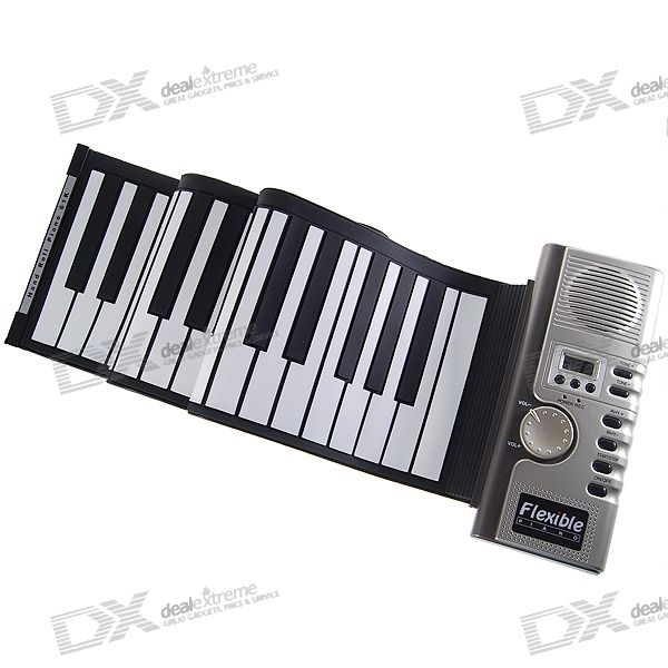 61-Key Digital Roll-up suave teclado de piano con MIDI
