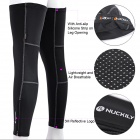 NUCKILY F005 Sun Protection Bike Cycling Leg Warmer Sleeve - Black (Size M / Pair)