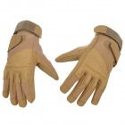 SW3039 Stylish Outdoor Full-finger Wind-proof Warm Super Fiber + Nylon Glove - Brown ( Pair L)