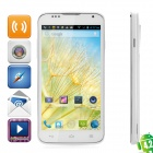 "A199 Android 4.2 Dual-Core WCDMA Bar Phone w/ 5.0"" Screen, Wi-Fi, GPS and Dual-SIM - White"