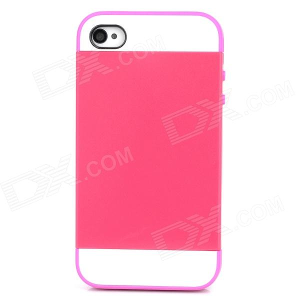 NX CASE Detachable Protective Back Case for Iphone 4 / 4S - Deep Pink mesh style protective back case for htc one x s720e deep pink