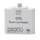 S903 OTG Card Reader Set for Samsung S3 / S4 / Note Phone / Tab - White (64GB Max.)