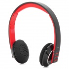 BH28 Stylish Bluetooth v2.1 + EDR Headphones w/ Microphone for Iphone 5 - Black + Red + Silver