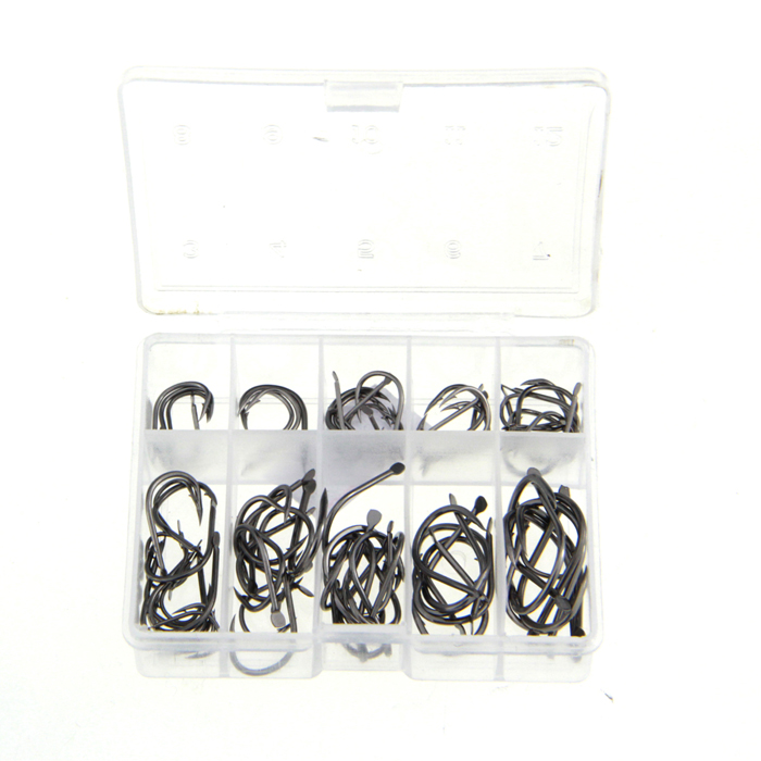 3#~12# Stainless Steel Barbed Fishing Hook - Silver (90 PCS)