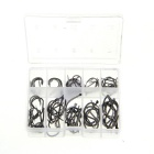 3#~12# Stainless Steel Barbed Fishing Hook - Silver Grey (90 PCS)
