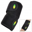 LK 2001 Professional Sports Velcro Elbow Support Warm Guard - Black