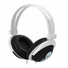 Skull Pattern Stylish Bass Headphones - White + Black (3.5mm Plug / 107cm)