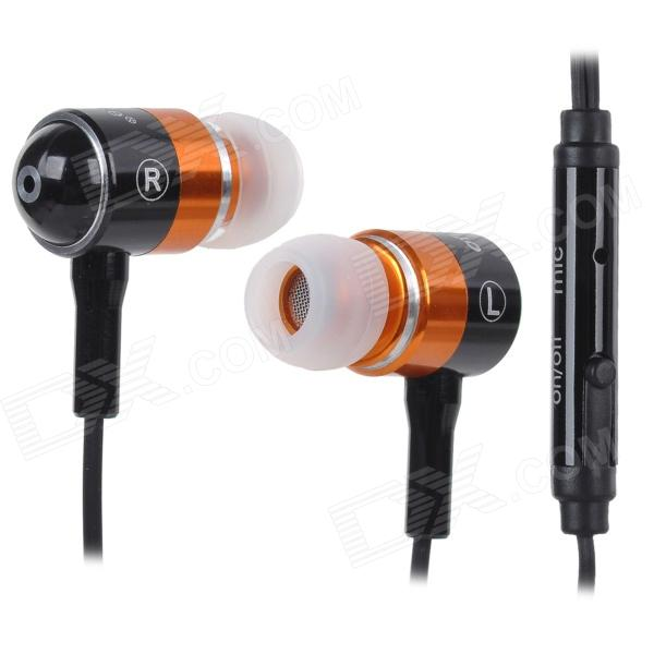 OFNOTE OC-16P In-Ear Earphone - Black + Orange + White (3.5 mm Plug / Cable 100cm)