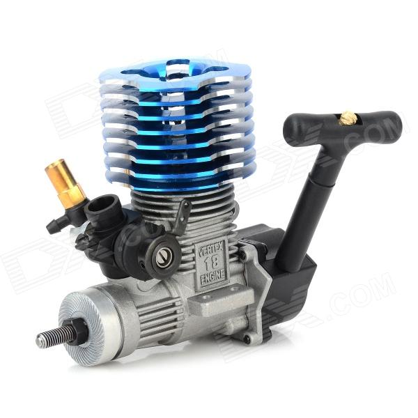 HSP 02060 VX-18 Engine w/ Glow Plug - Silver + Blue + Black oem quality cylinder liner sleeve piston 06 pc kit for cf1125 4 stroke single cylinder small water cooled diesel engine