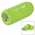 mini torch Rechargeable Waterproof  2-Mode White LED Flashlight - Green