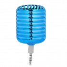 LX053 Microphone Style Portable 3.5mm Speaker for Iphone / Samsung / HTC / Motorola / Nokia - Blue