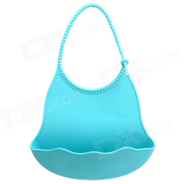 GEL-42 Non-toxic Silicone Feeding Food Baby Bib - Light blue