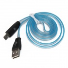 Micro USB Colorful Visible Charging & Sync Data Cable for Samsung / HTC / Sony - Blue + White(100cm)