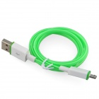 Luminous USB Male to USB Male Charging Data Sync Cable for Samsung, HTC + More - Green (93cm)