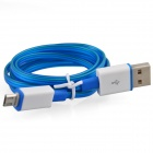 Luminous USB Male to USB Male Charging Data Sync Cable for Samsung, HTC + More - Blue (93cm)