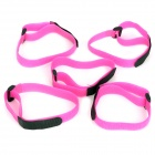 Buckle Velcro Bundling Belt Strap - Deep Pink (20 x 400mm / 5 PCS)