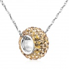 "eQute PSIW302C16 S925 Sterling Silver Pendant Necklace - Champagne + Silver (18"")"