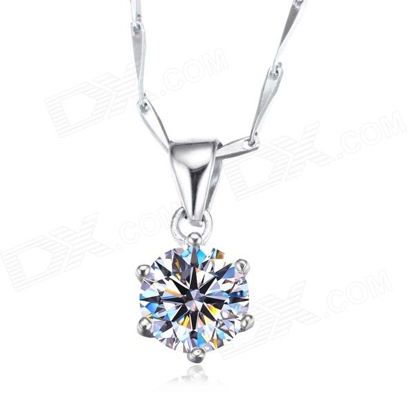 eQute PSIW2COOT1 1.9 Carat Zircon Pendant Come with a Sterling Silver Seeds Chain Necklace (16)