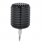 LX053 Microphone Style Portable 3.5mm Speaker for Iphone / Samsung / HTC / Motorola / Nokia - Black